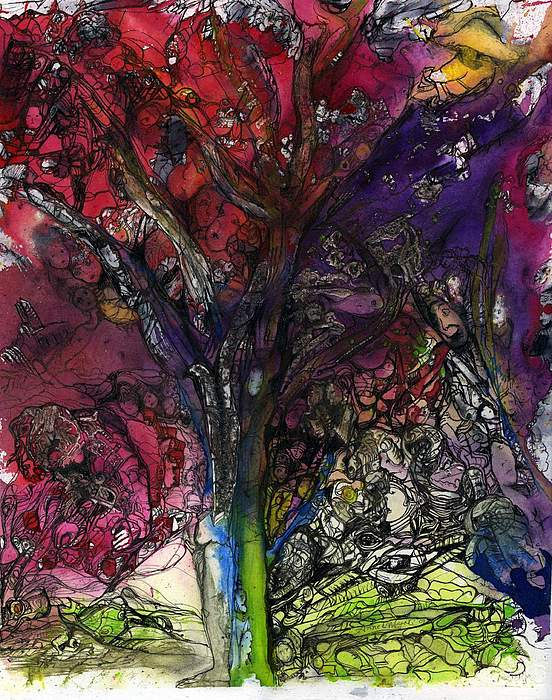Nature Painting - Grounded We Stand by Anne-D Mejaki - Art About You productions