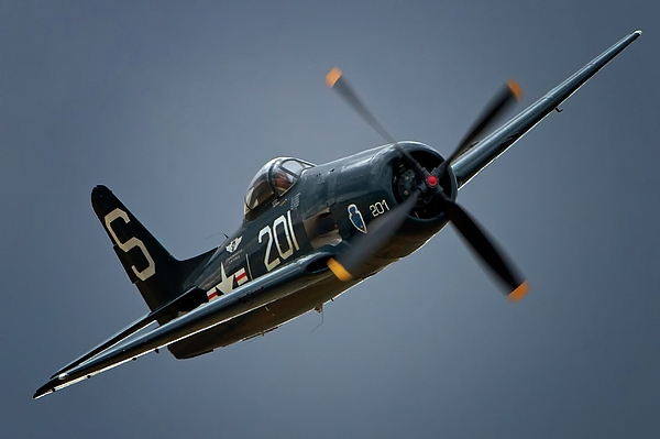 Airplane Photograph - Grumman F8f Bearcat 201   2011 Chino Air Show by Gus McCrea