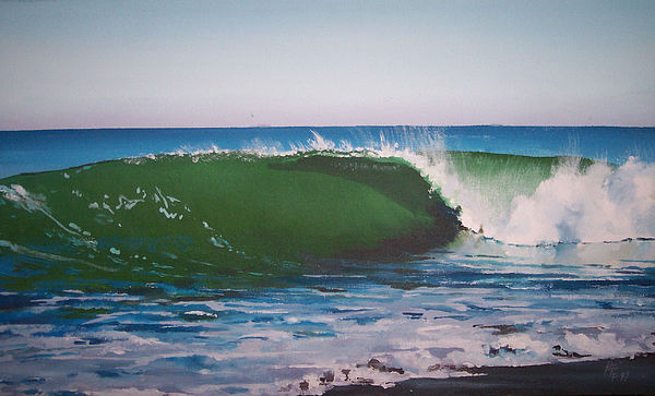 Surf Painting - Guadalupe Rivermouth by Philip Fleischer