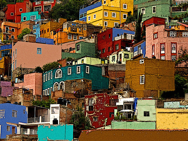 Darian Day Photograph - Guanajuato Hillside 4 by Mexicolors Art Photography