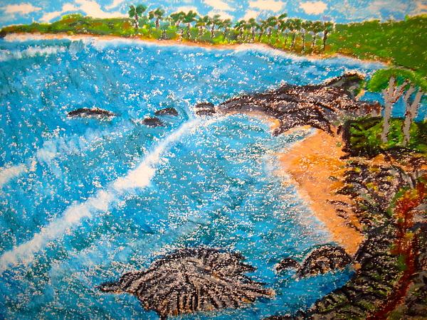 Seascape-beach Pastel - Guanica  P R      by Felix Zapata