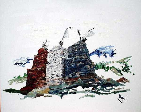 Religious Beliefs Painting - Guardian by Tenzin Phakmo