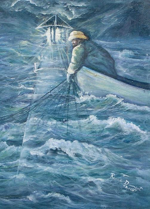 Light House Painting - Guidance by Renee Dumont  Museum Quality Oil Paintings  Dumont