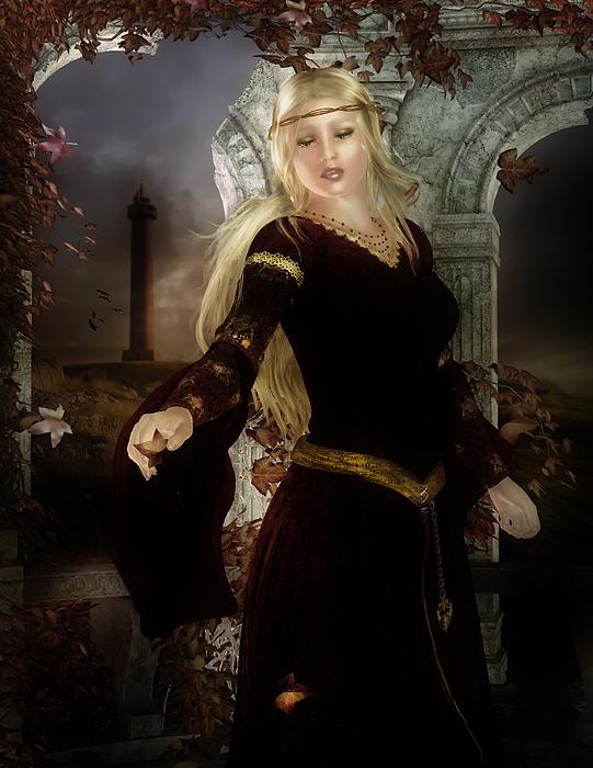 Camelot Digital Art - Guineveres Tears by Mary Hood