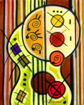 Music Painting - Guitar by Daniel Henigman