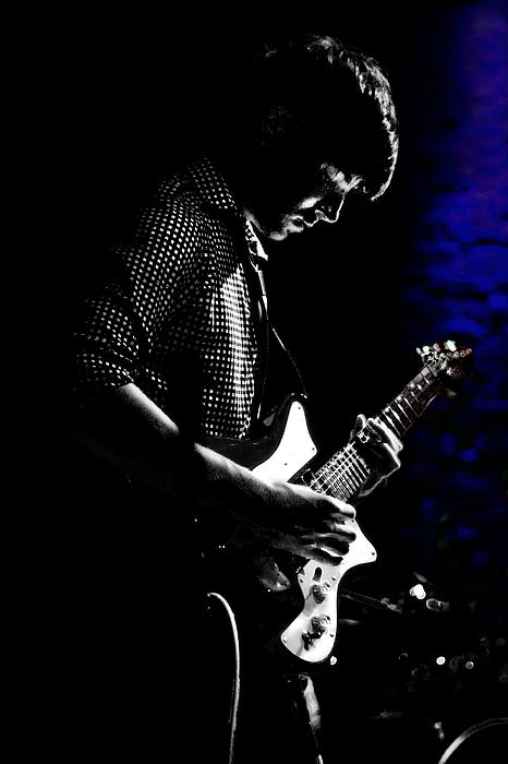 Guitar Photograph - Guitar Man In Blue by Meirion Matthias