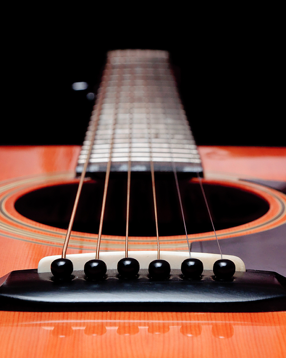Guitar Orange 19 Photograph by Andee Design