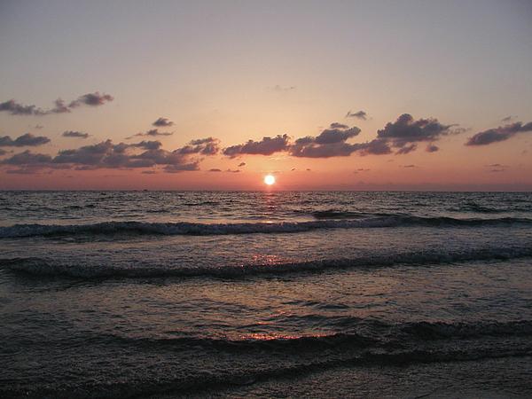 Gulf Photograph - Gulf Sunset by Bill Cannon