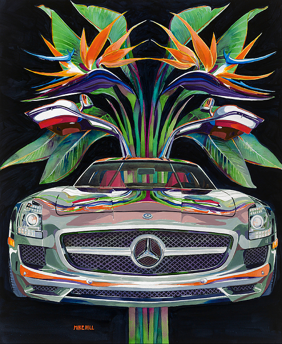 Gullwing Birds Of Paradise Painting by Mike Hill