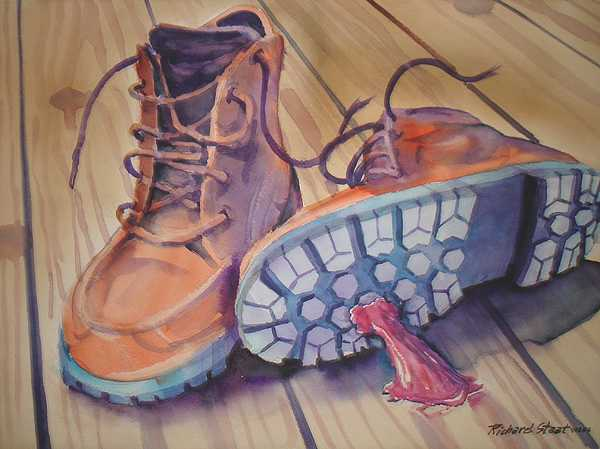 Still Life Painting - Gum Shoe by Richard Staat