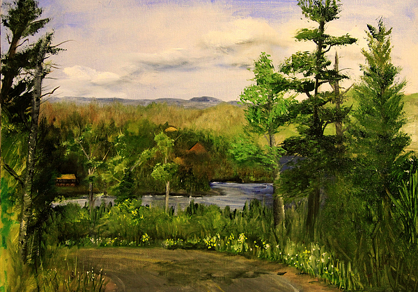 Landscape Painting - Gunflint Overlook by Joi Electa