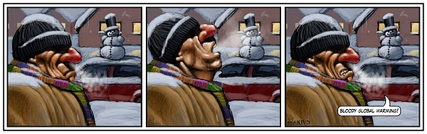 Global Warming Painting - GW by Mariusz Loszakiewicz