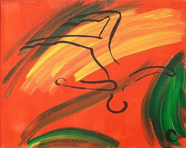 Gymnast Painting - Gymnast by Christina Wilson