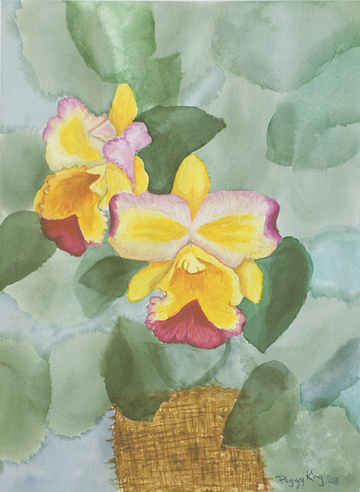 Orchids Painting - Gypsy Orchids by Peggy King