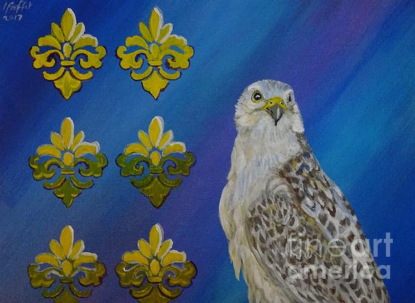 Falcon Painting - Gyr Falcon by Isabel Proffit