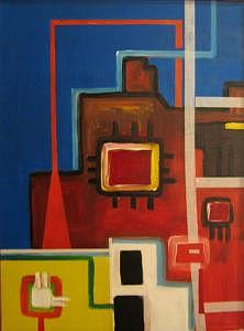 Habitat II Painting by Frank  Juarez