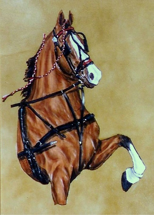 Horses Painting - Hackney by Lilly King
