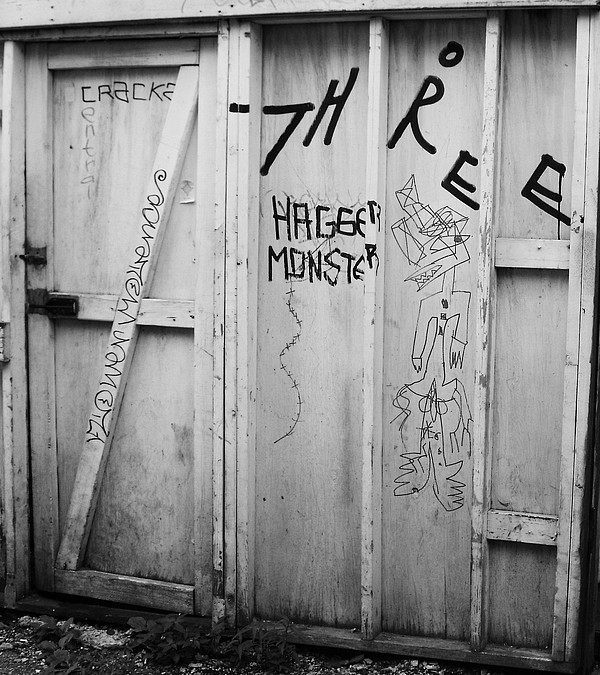 Graffiti Photograph - Hagger Monster by Anna Villarreal Garbis