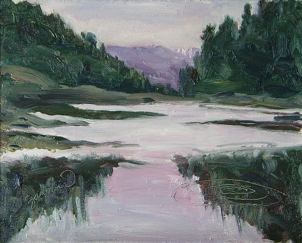 Hahns peak lake eve steamboat springs colorado painting by for Peak fishing times