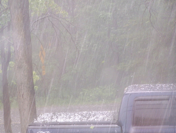 Weather Photograph - Hailstorm In May by Lila Mattison