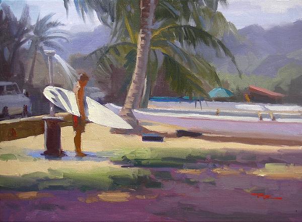Haleiwa Painting - Haleiwa Epilogue by Richard Robinson