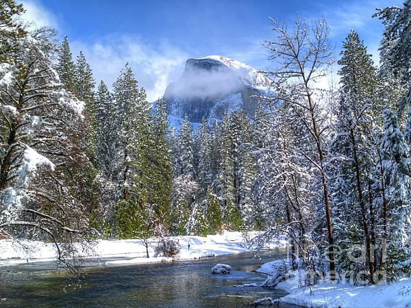 Half Dome Photograph - Half Dome And The Merced River by Bill Gallagher