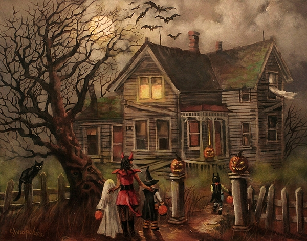 Halloween dare painting by tom shropshire for Chambre 13 paranormal