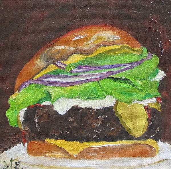Food Painting - Hamburger Heaven by Irit Bourla