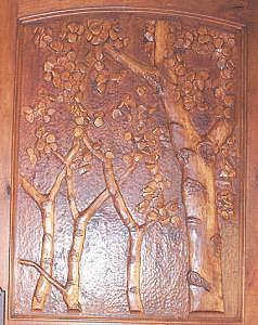 Hand Carved Entry Door  Aspen Sculpture by Stacey Mitchell