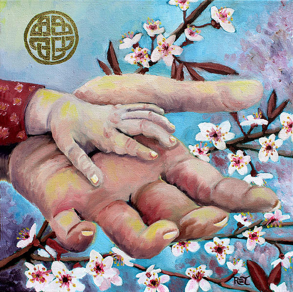 Hands Painting - Hands Of Love by Renee Thompson