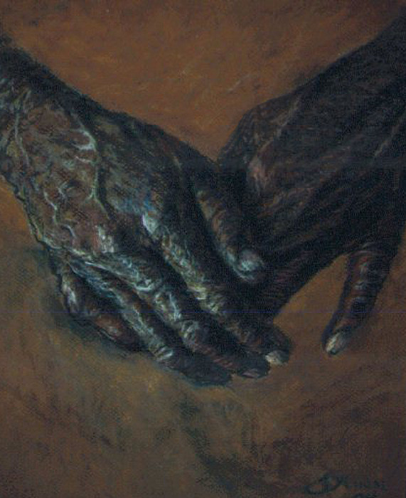 Hands Pastel - Hands Of Time by Tommy  Winn
