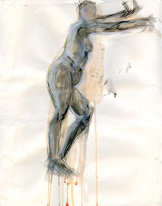 Woman Drawing - Hang by Aimee Johnson