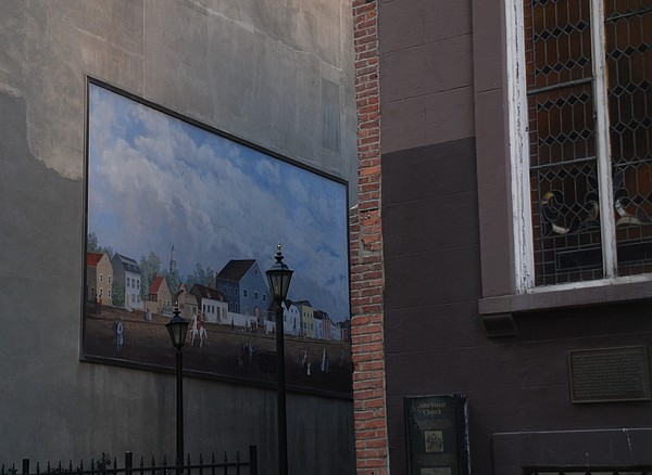 Street Scene Photograph - Hanging Art In N Y C  by Rob Hans