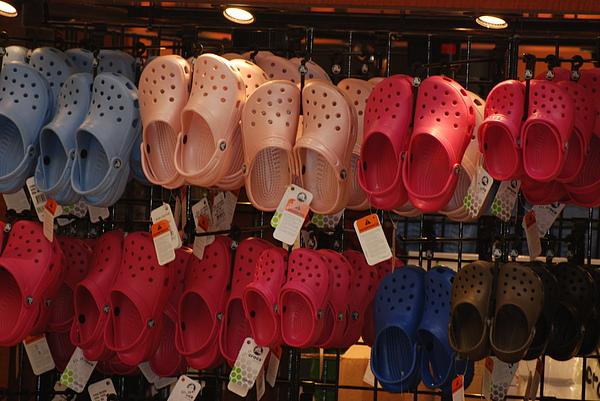Crocks Photograph - Hanging Crocs by Rob Hans
