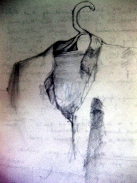 Drawing Drawing - Hanging Thoughts  by Sadia Jamal