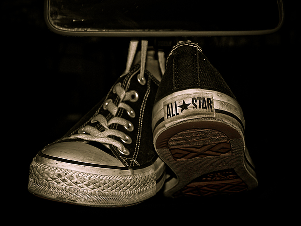 Converse Photograph - Hanging With Chuck by Valerie Morrison
