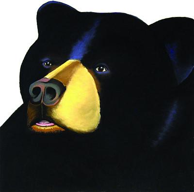 Black Bear Painting - Hank by Brenda Wolf