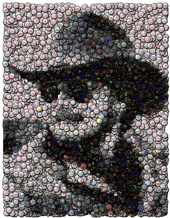 Country Music Digital Art - Hank Williams Jr. Bottle Cap Mosaic by Paul Van Scott