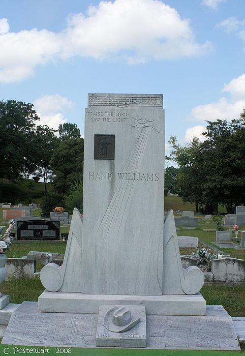 Music Photograph - Hank Williams Sr. Headstone by Carolyn Postelwait