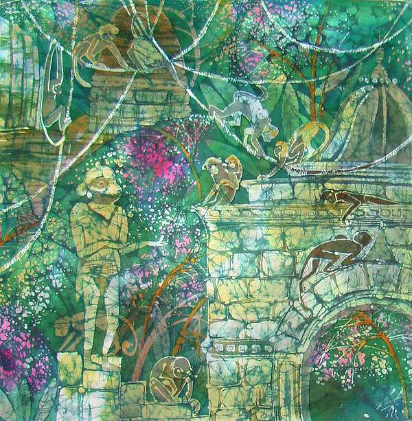 Impressionism Painting - hanuman by Chagorova Tatjana