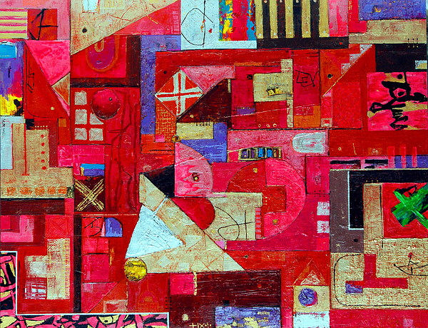 Abstraction Painting - Happening And Selection No.06-01 by Demin Xu