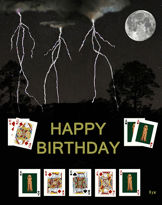 Happy Birthday Poker Cards Greeting Card for Sale by Eric Kempson – Poker Birthday Cards