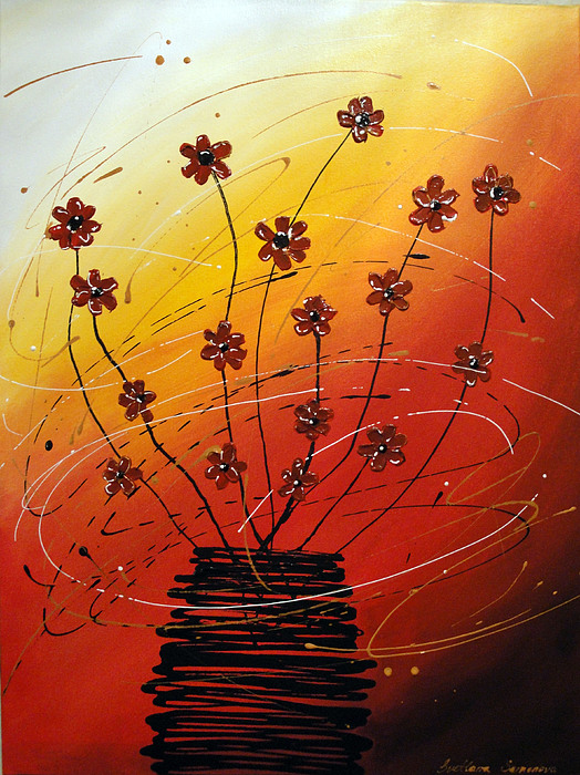 Floral Painting - Happy Flowers by Svetlana Semenova