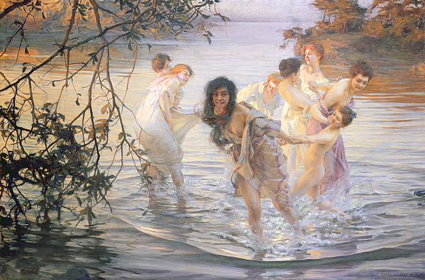 Happy Games Painting - Happy Games by Paul Chabas
