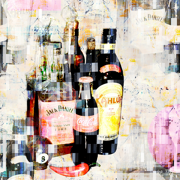 Abstract Digital Art - Happy Hour by Jennspoint