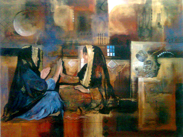 Childhood Painting - Happy Hours by Jaffo Jaffer