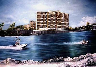 Buildings Painting - Harbour House by Yolanda Barjoud