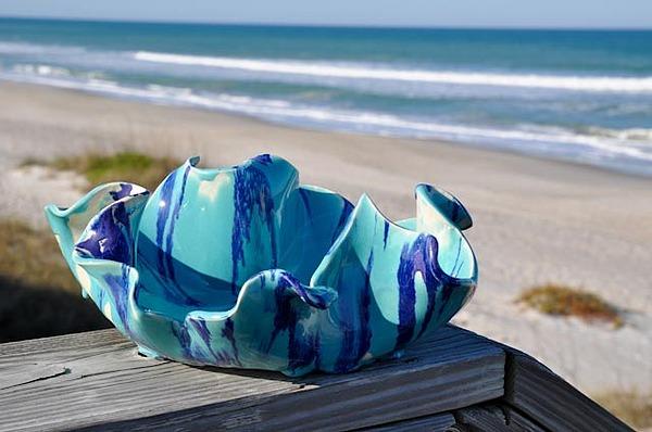 Beach And Ocean Inspired Artwork Sculpture - Hard Candy Bowl by Gibbs Baum