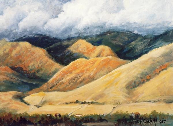 Landscape Painting - Hardscrabble Canyon by JoAnne Corpany