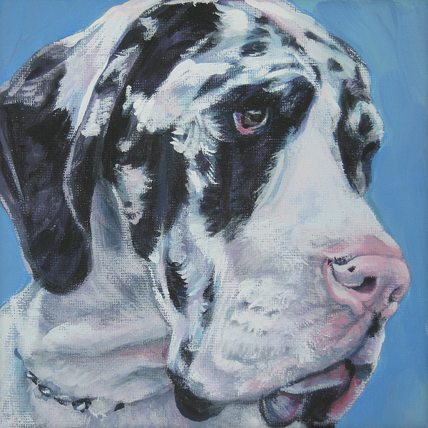 Harlequin Great Dane Painting - harlequin Great Dane by Lee Ann Shepard